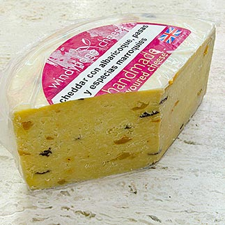 Windyridge Cheese - Queso cheddar con albaricoque, pasas y especias marroquies
