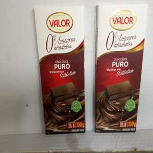 Valor - Chocolate Valor  con leche sin Azucar