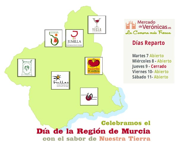 Celebramos el Día de la Región de Murcia con el sabor de nuestra tierra