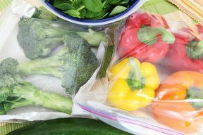 Conservar verduras por separado