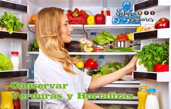 Conservar verduras y hortalizas